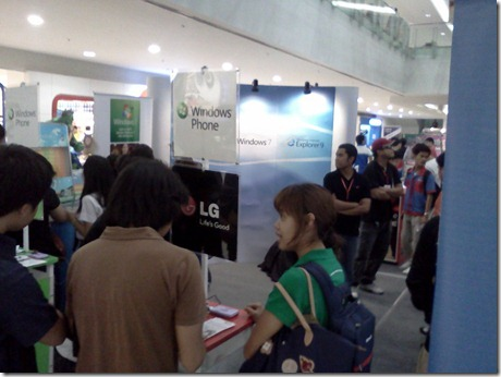 Microsoft's Booth in Technolife