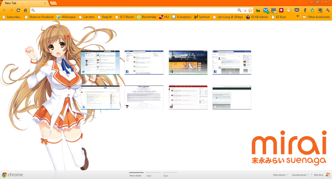 [Chrome Theme] Mirai Suenaga Chrome Theme