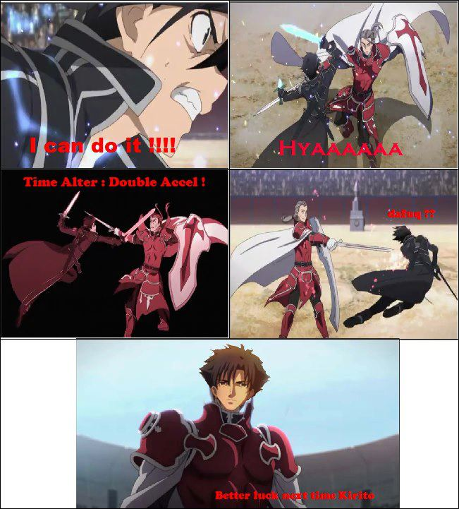 Why Heathcliff won in the duel with Kirito