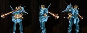 swordsman pure white weapons