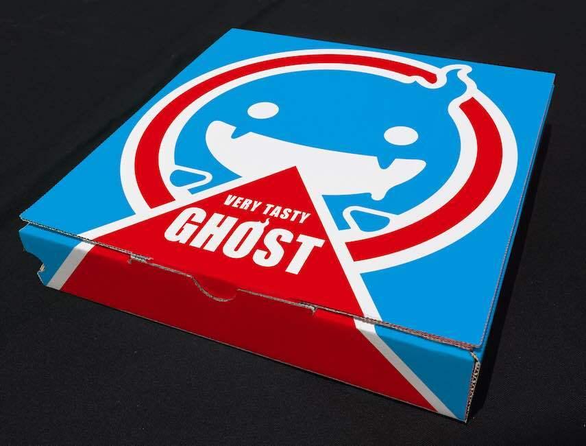 The pizza box cover!