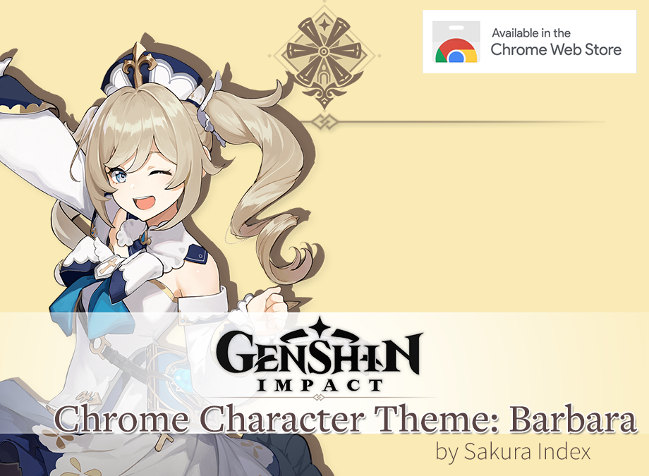 [Chrome Theme] Barbara Theme for Genshin Impact Free Download